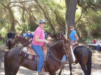 Dancer & her new owner Lynn on their first group trail ride