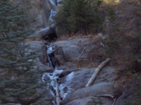 A frozen waterfull in the Kings Canyon National Park