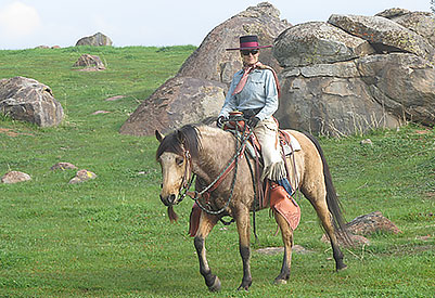 Jo & buckskin horse